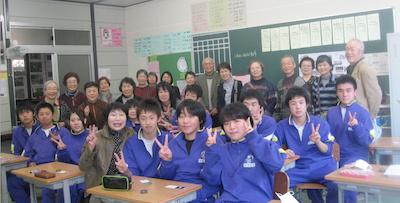2013年12月の唐丹訪問の様子。